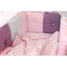 """Бортики в кроватку """"Розовые оттенки"""""""